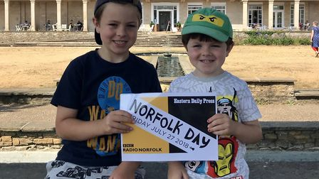 Youngsters enjoying the Norfolk Day community fete at Waterloo Park in Norwich. Picture: SOPHIE SCOT