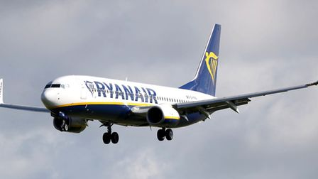 File photo of a Ryanair plane st Stansted Airport as dozens of Ryanair flights are cancelled. Pictur