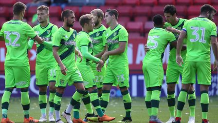 City's players sported the club's new third kit during Saturday's friendly defeat at Charlton Pictur