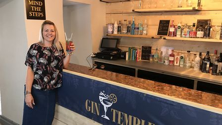 Teresa Gizzi at her new gin experience bar the Gin Temple. PHOTO: Neil Perry