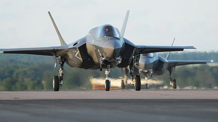 More F35 B Lightning stealth aircraft have arrived at RAF Marham. Picture: Ian Burt