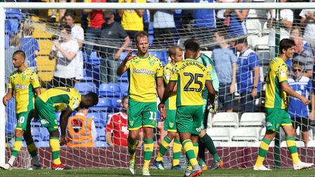 The Canaries players congratulate each other on a positive performance on the opening day of the sea