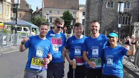 The blind runners who took part in Run Norwich 2018. Photo: Norfolk and Norwich Association for the
