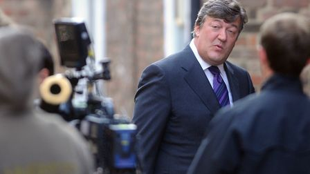 ITV's Kingdom filming at King's Lynn Magistrates Court for the thrid series. Pic shows Stephen Fry o