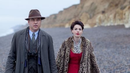 David Walliams (as Tommy Beresford) and Jessica Raine (as Tuppence Beresford) in the Cromer-filmed A