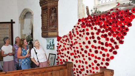 The All Saints Church in Walcott celebrated the open churches week with a poppy display. Picture: Su