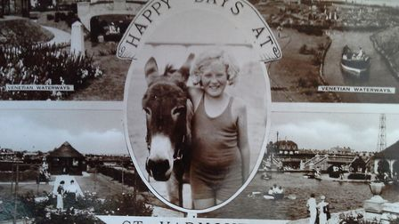 Some things never change – Happy Days at Gt Yarmouth – where the donkeys still delight the children.