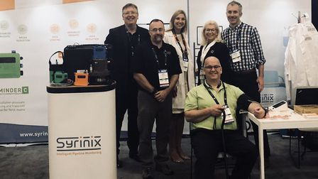 The team at Syrinix, which designs intelligent pipeline monitoring systems, based at Hethel Engineer