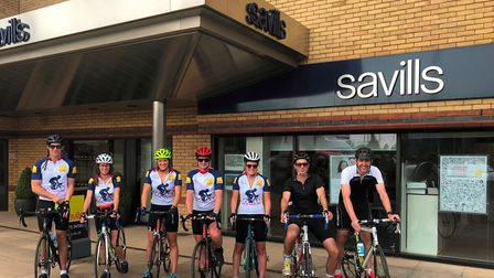 Savills rural team members cycled around the East of England in aid of the East Anglian Air Ambulanc
