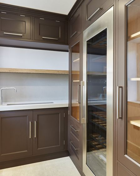 The wine room and champagne ice trough at Mallards. Pic: www.savills.co.uk