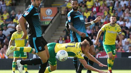 Jordan Rhodes chucked himself at a Grant Hanley header in the closing stages but couldn't force a la