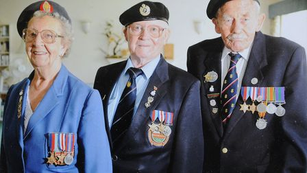 World War II veterans George Gallagher and Margaret Dickinson at Cromer's Armed Forces Day. They ar