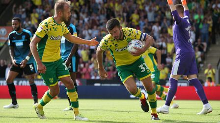Grant Hanley scored the final of seven goals at Carrow Road - but that can't prevent Norwich City sl