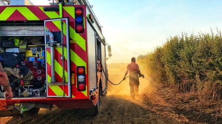 Norfolk Fire and Rescue Service tackling fires. Picture: Norfolk Fire and Rescue Service