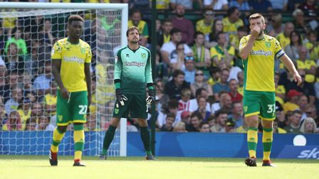 City's Tim Krul looks on ruefully after conceding a fourth goal against West Brom. Picture: Paul Che