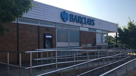 The Barclays Bank branch in Eaton, which is to close. Bank branch closures are hastening the decline