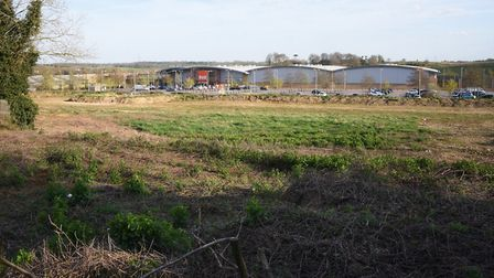 The land at Neatmarket on Hall Road, where a new Porsche dealership is to be built, close to the B&Q