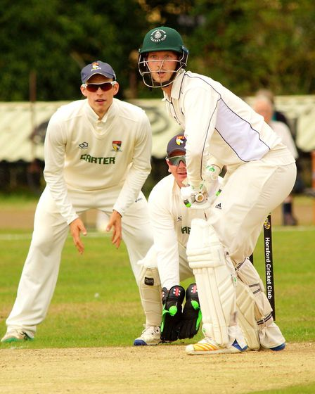 Norfolk keeper Tom New and first slip Sam Arthurton wait for any mistakes Picture: TIM FERLEY