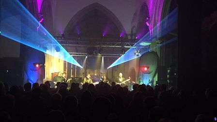 Thetford-based Pure Floyd Show performing at Methwold church in 2016. Picture: Pure Floyd Show