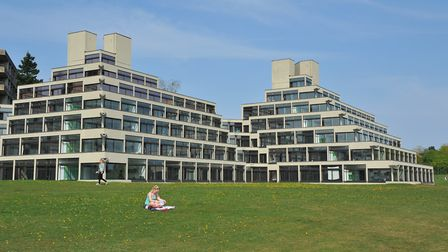 The famous Ziggurat buildings at the UEA. PHOTO BY SIMON FINLAY