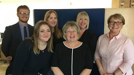 The appenticeship team at Norfolk and Norwich Hospital. Photo: NNUH