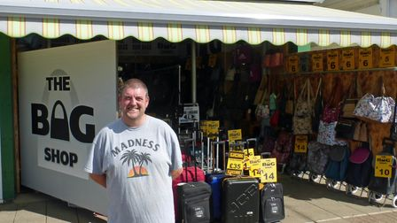 Alan Pitt co-owner of The Bag Shop, in Regent Road which used a council grant to replace shopfront s