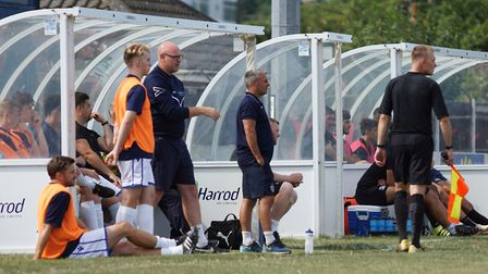 Lowestoft Town boss Jamie Godbold and assistant Andy Reynolds Picture: Shirley D Whitlow