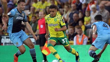Max Aarons made his Canaries debut against Stevenage in midweek Picture: Paul Chesterton/Focus Image