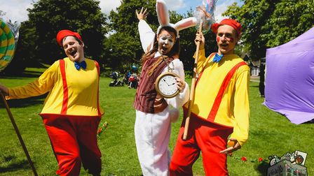 Ollie Kingsley, Crissie Weaver and Joe Ulyatt at a Norwich in Wonderland event (Image: TimWoodPhoto.