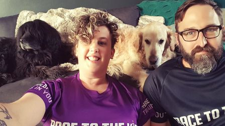 Laura Ross and her husband Rich took part in the double marathon Race to the King challenge for the
