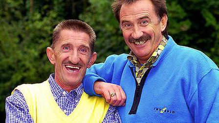 The late Barry Chuckle with brother Paul Picture: ARCHANT ARCHIVE