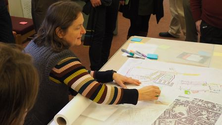 Gail Mayhew, chair of the Cathedral Magdalen & St Augustine's Neighbourhood Forum. Picture: Simeon J