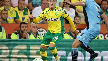Felix Passlack made his Norwich City debut during the Carabao Cup victory over Stevenage at Carrow R