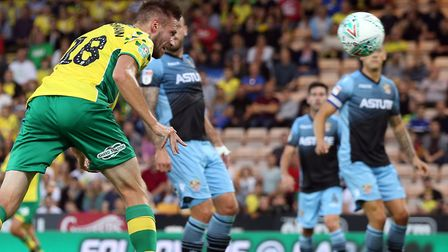 Marco Stiepermann headed Norwich in front Picture: Paul Chesterton/Focus Images