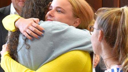 A-Level results day 2018 at Norwich High School for Girls. Photo: Norwich High School for Girls