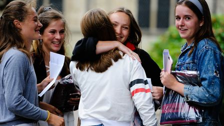 A-Level results day 2018 at Norwich School. Photo: Keith Whitmore