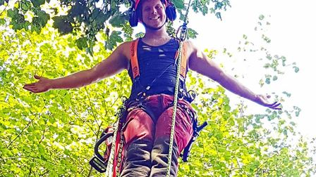Tree surgeon Henry Balls, of North Walsham Young Farmers' Club. Picture: Henry Balls