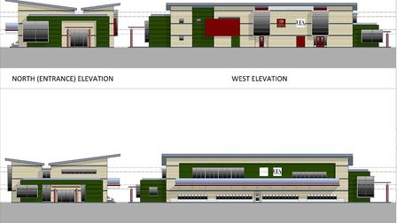 Impressions of what Norwich Rugby Club's new home would look like. Picture: Supplied