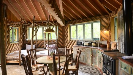Treehouse holidays at West Lexham. Picture: IAN BURT