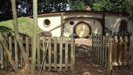 Live like a hobbit in Pod Hollow. Picture: WEST STOW PODS