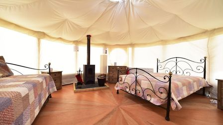 One of the yurts at the Waveney River camp site. Picture: NICK BUTCHER