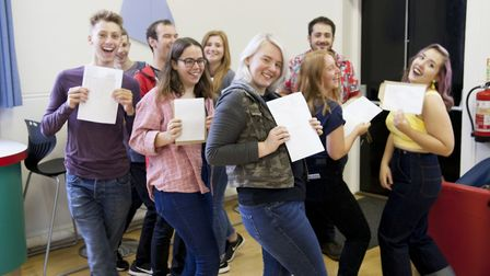 Students from Mildenhall College Academy celebrate their A-Level results. Picture: Mildenhall Colleg