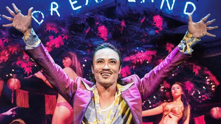 Christian Rey Marbella as The Engineer in Miss Saigon. Picture: Johan Persson.
