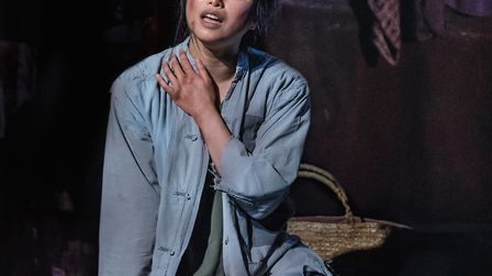 Sooha Kim, who plays Kim in Miss Saigon at Norwich Theatre Royal. Picture: Johan Persson.