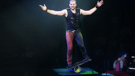 Sascha Williams at the Hippodrome Circus Summer Show at Great Yarmouth. Picture: DENISE BRADLEY