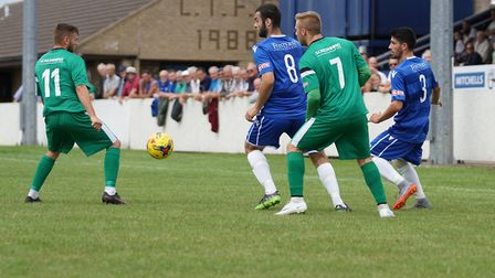 Action from Lowestoft Town's win over Hitchin Town Picture: Shirley D Whitlow