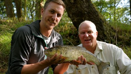 Dad Bob Hammond from Mendham admires son Greg's chub. We weren't as lucky with our barbel Picture: J
