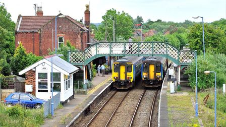 Acle railway station in 2009, now graced by some nostalgic advertisements. Photo: RICHARD ADDERSON