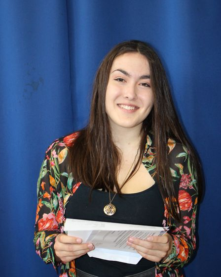Attleborough Academy student Emma Seager who obtained three A* and one A grade. PHOTO: Attleborough