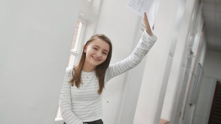 A-Level results day at King Edward VII Academy in King's Lynn. Katie Clarke.Picture: ANTONY KELLY
